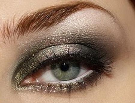 золотисто зеленые тени для макияжа