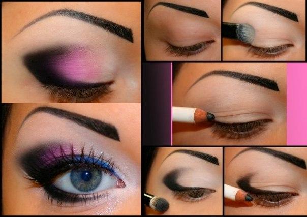 макияж в розовых тонах для глаз