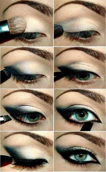макияж для зеленых глаз, пошаговые фото