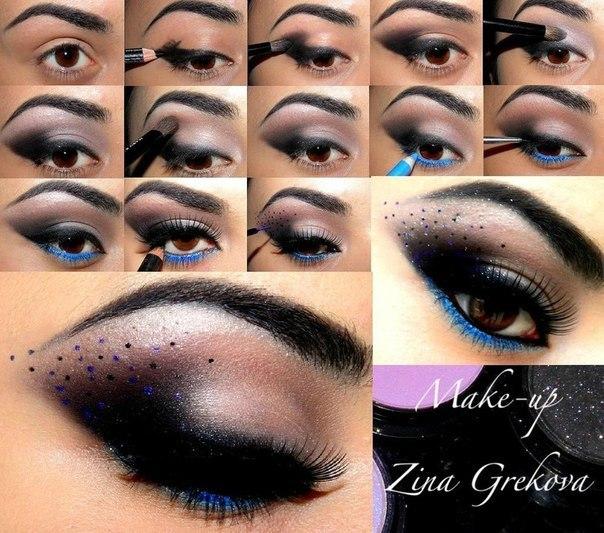 макияж черные стрелки