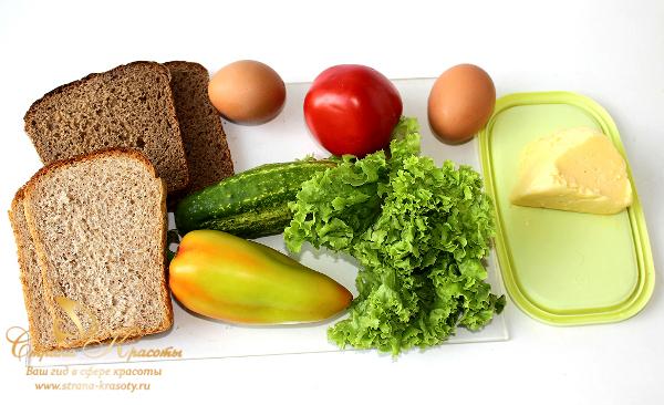 диетический сэндвич набор продуктов