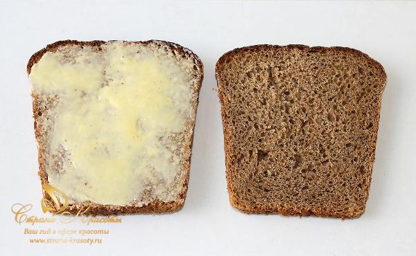 сэндвич диетический - намазали маслом