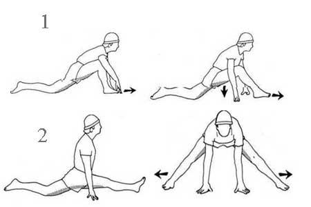 упражнения для разогрева, чтобы сесть на шпагат