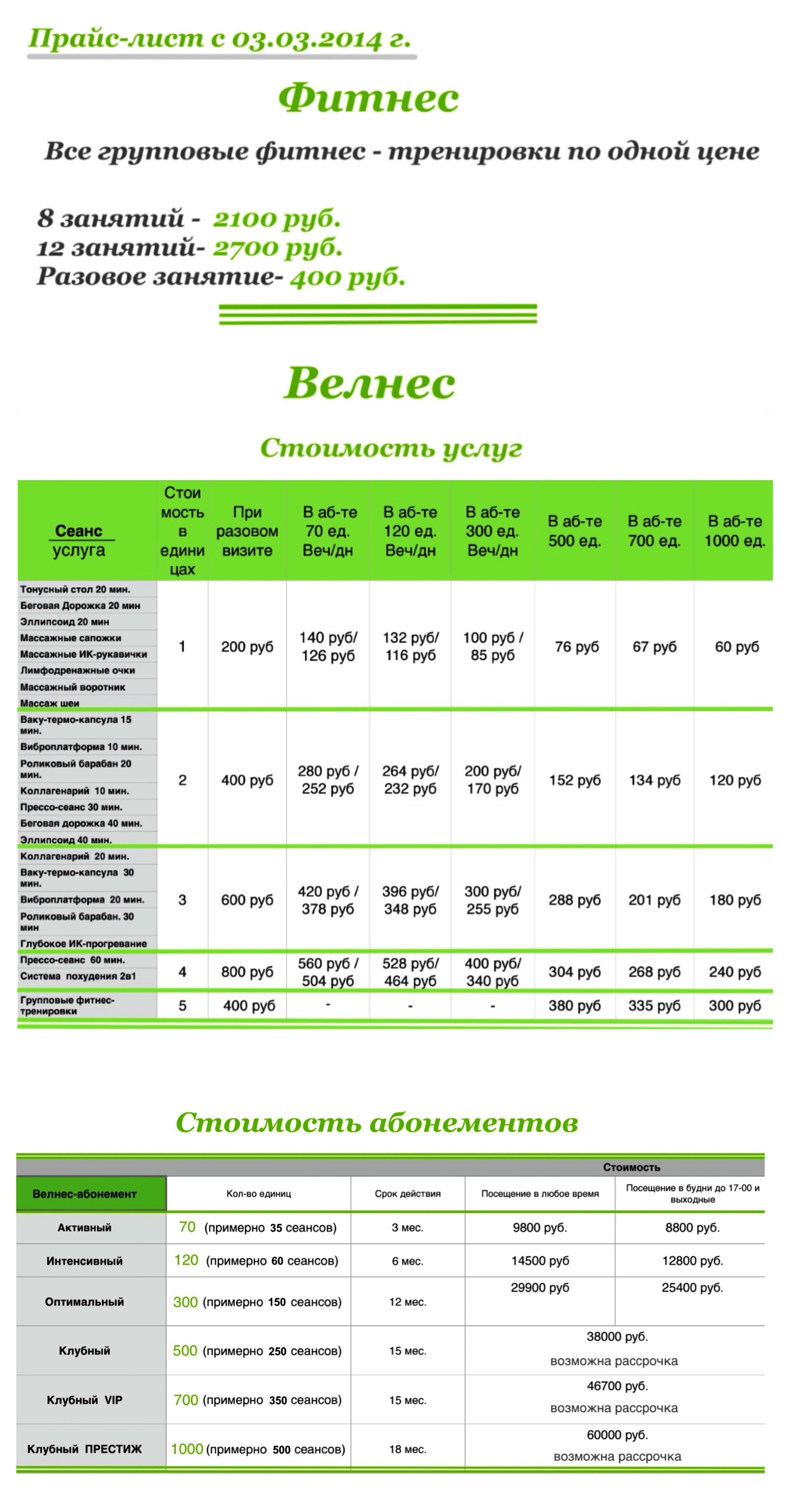 price 2014