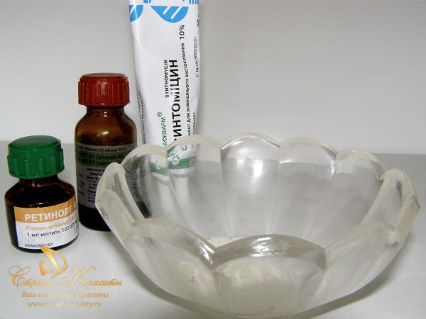 Синтомициновая антибактериальная маска - ингредиенты