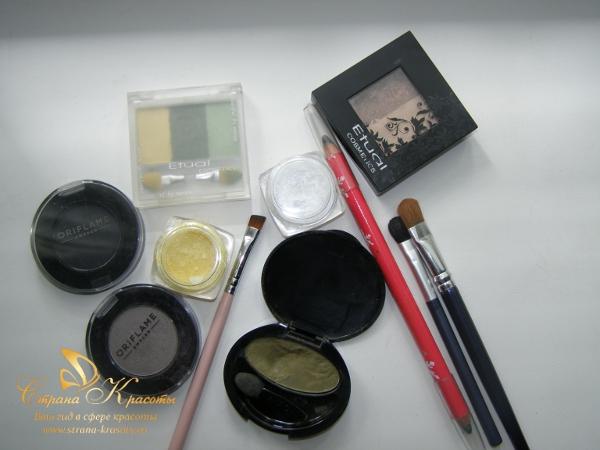 косметика для вечернего макияжа